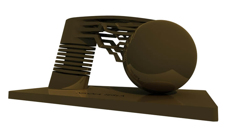 Projekt realizace pomniku NIKOLA TESLA